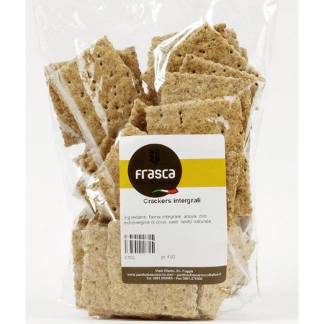 Crackers integrali artigianali